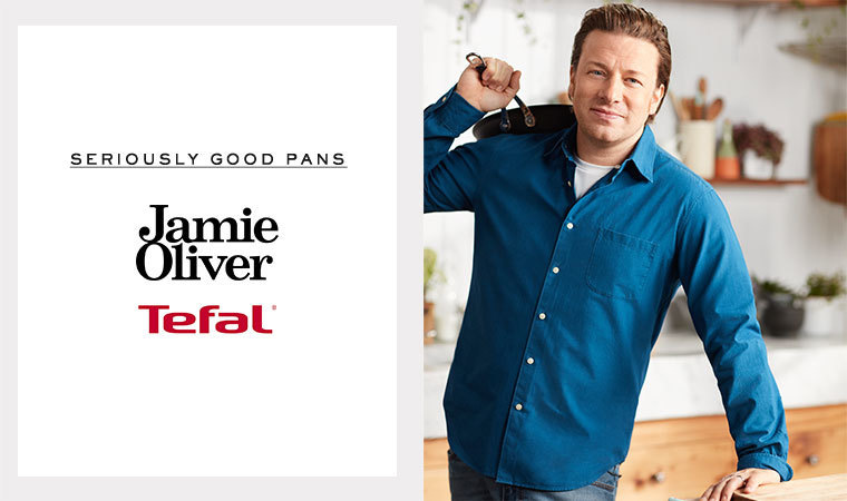 jamie oliver tefal cookware myer. Black Bedroom Furniture Sets. Home Design Ideas