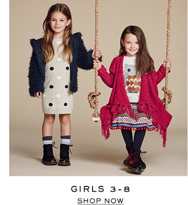 Girls 3-8. Shop now