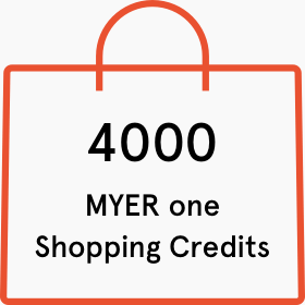 4000 Myer one shopping credits