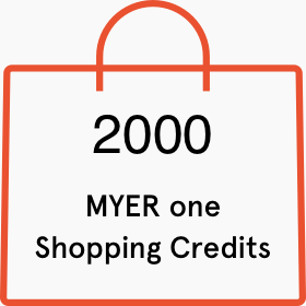 2000 Myer one shopping credits