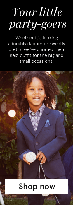 50% off 2nd item on selected kids suiting