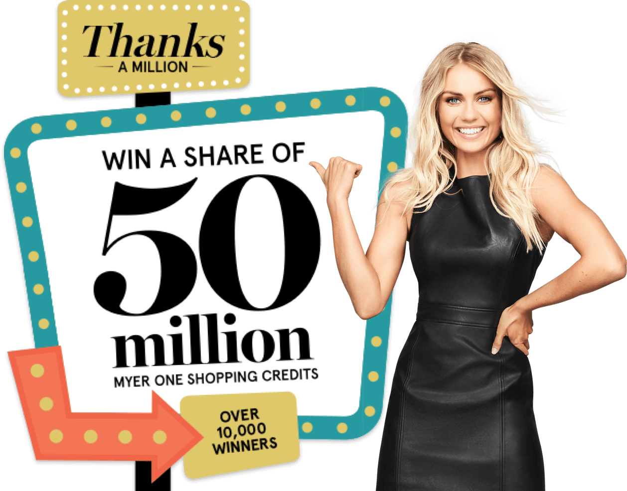 Win a share of 50 million MYER one shopping credits
