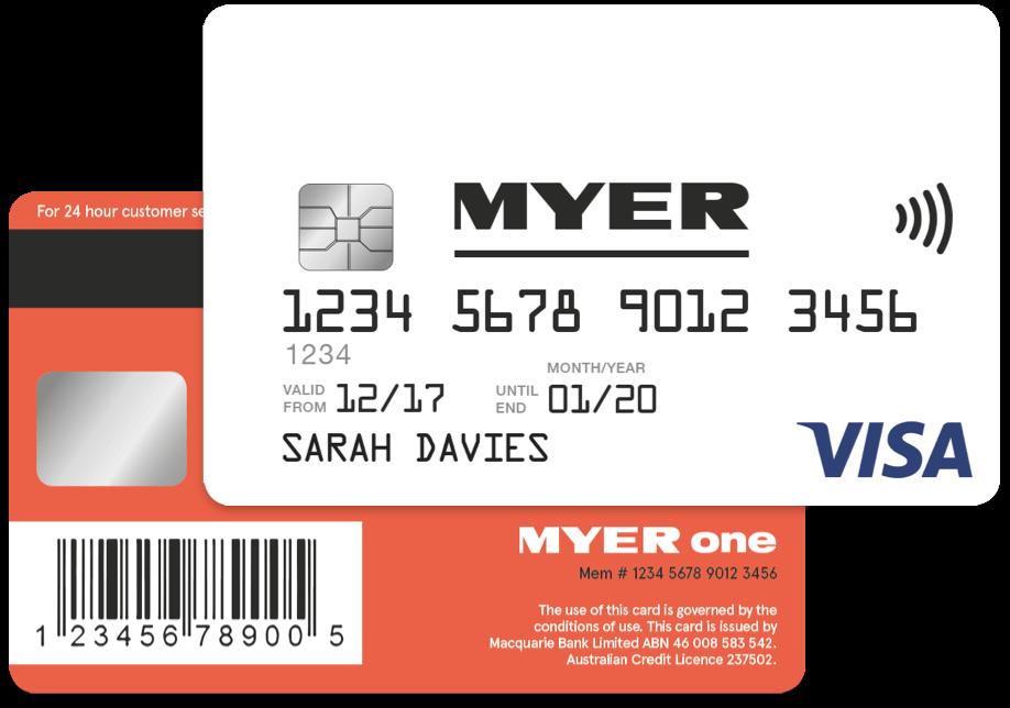 Myer Online - Navigation - creditcard