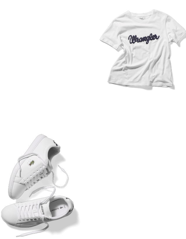 shoes and t-shirt