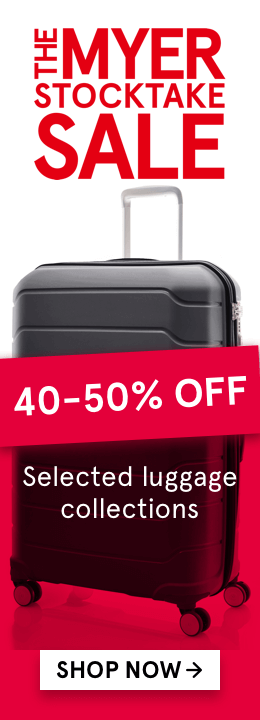 40-50% off selected luggage collections