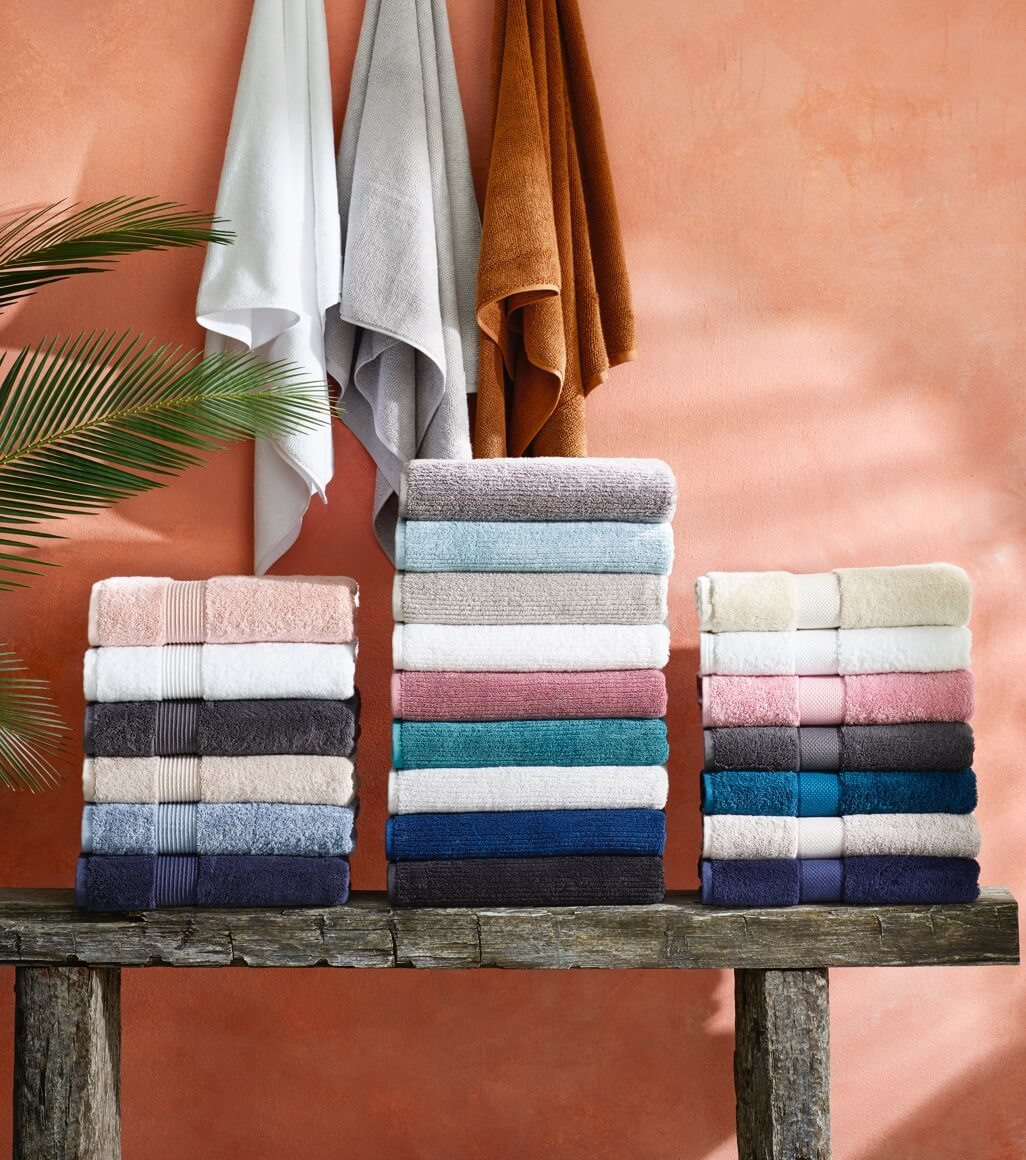 Stacks of bathroom towels