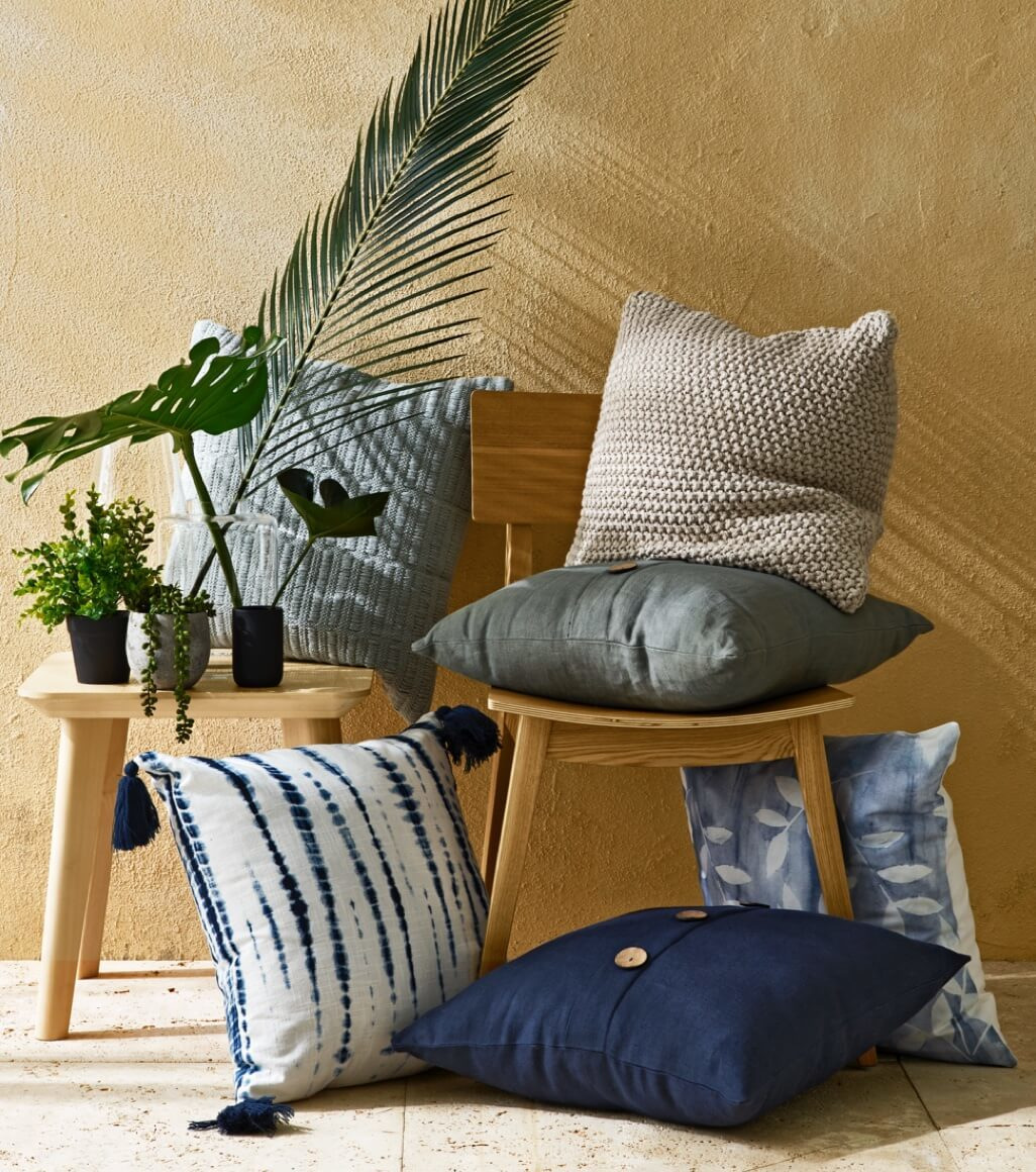 Cushions with various patterns