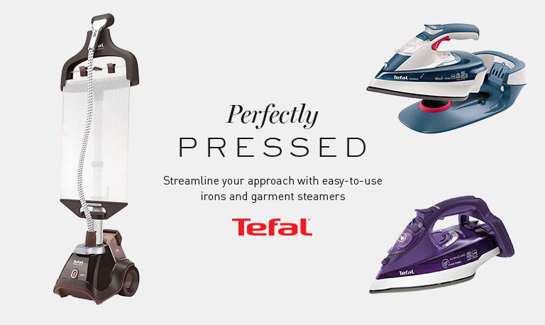 Perfectly pressed. Streamline your approach with easy to use irons and garment steamers