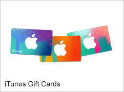 iTunes Gift Cards.