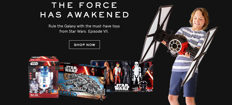 The Force has awakened. Rule the galaxy with the must-have toys from StarWars: Episode VII. Shop now.