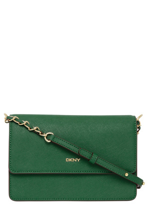 DKNY - R1613003 Bryant Park Saffiano Flap Crossbody with Chain Handle