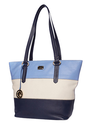 Cellini - CLH006 Tri Tone Tote in Blue
