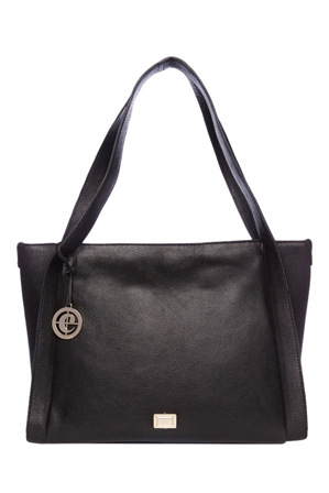 Cellini - CLH008 Exposed Seam Tote in Black