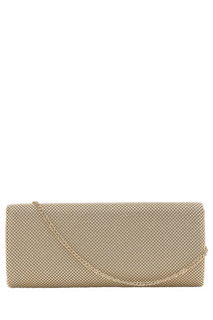 Olga Berg - OB5213 Gianna Ball Mesh Fold Over Clutch