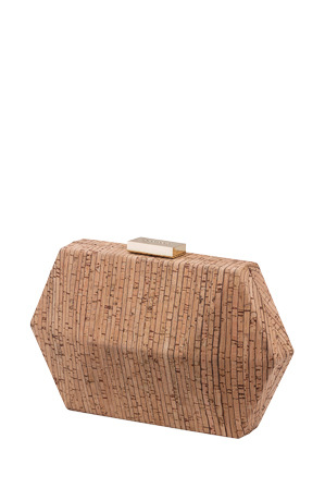 Olga Berg - OB7196 Parker Cork Facetted Pod Clutch