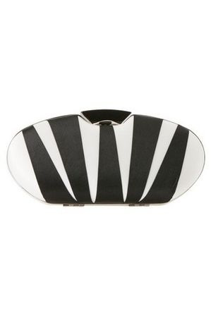 Morgan & Taylor - Oval Stripe Clutch in Black MBA48