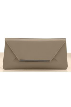 Olga Berg - Fold Over Clutch with Metal Strip OB1468