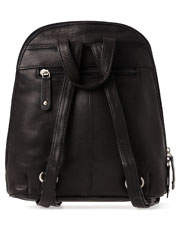 Joan Weisz - Leather Front Zip Backpack 3990