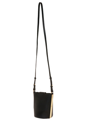Sophie Hulme - BG192LE Barnsbury Black Saddle Leather Nano Bucket Bag