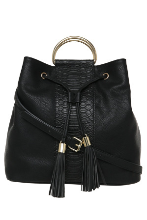Wayne Cooper - WH-2320 Shannon Bucket Bag in Black