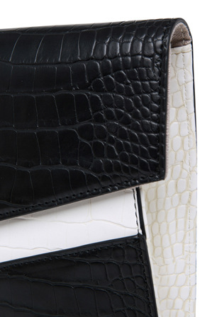 Basque - BHH008 Croc Clutch in Black