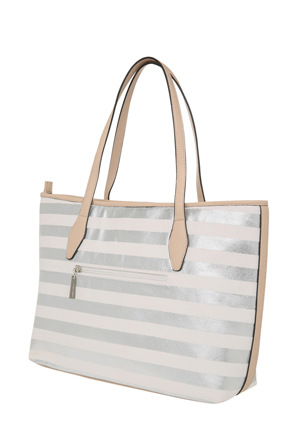 Basque - BHH014 Canvas Shopper in Silver