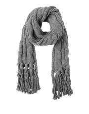 Miss Shop - Cable Knit Fringed Scarf
