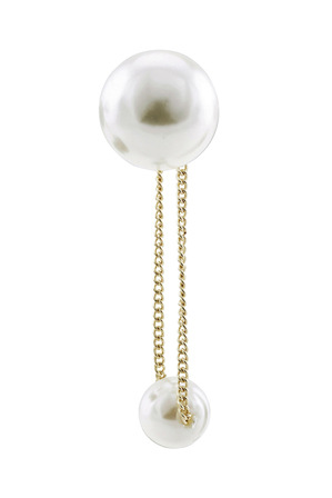 David Lawrence - Eclipse Chain Faux Pearl Stud