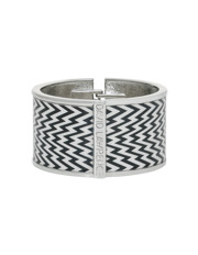 David Lawrence - E606.1408 Zigzag Statement 40Mm Enamel Print Bangle