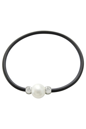 Pure Elements - C0137BB-186 Pearl Black Cord Bracelet