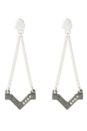 Guess - UBE82076 Triometric V Style Drop Earrings