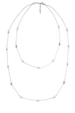 Barcs - B474NL-IVO Freshwater Pearl Rope Necklace