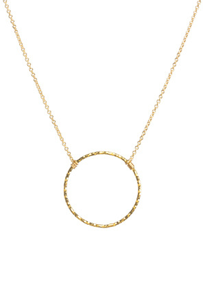 Dogeared - KG2041 Medium Sparkle Karma reminder necklace