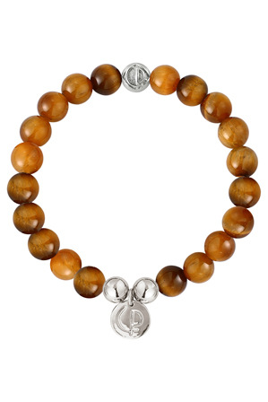 Christian Paul - OBS-12 Original Tiger Eye/Silver Bead Bracelet