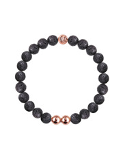 Christian Paul - OBL-09 Original Lava Stone/Rose Gold Bead Bracelet