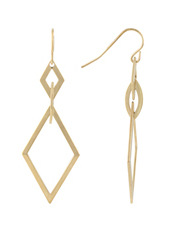 Trent Nathan - 222938 Diamond Cut Out Drop Fish Hook Earrings