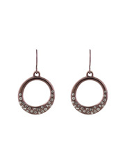 Trent Nathan - 420459 Organic Stoneset Ring Fish Hook Earrings