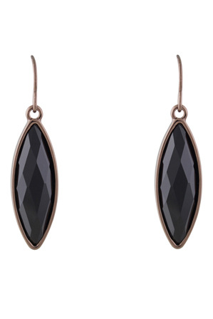 Trent Nathan - 222964 Faceted Marquise Drop Fish Hook Earrings