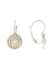Trent Nathan - TNHSS17ER13C Detailed Ethnic Disc French Wire Earrings