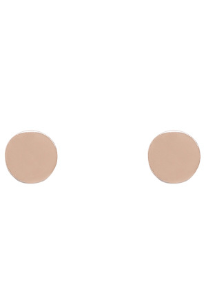 Basque - A66300BA Core Minimalist Polished Circle Studs in Rose Gold