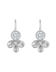 Trent Nathan - TNAPS17ER142 Floral CZ fixed hook earrings