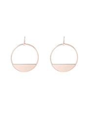 Wayne Cooper - WCJHW17ER67 Geometric Metal Semi Solid Circle Loop Fish Hook Earrings