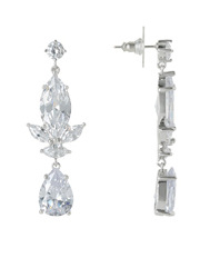 Trent Nathan - TN3EW17ER20 Vintage Pearl Style Cubic Zirconia Drop Post Earrings