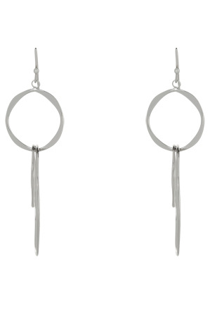 Trent Nathan - TNHSW17ER31 Sculpted Interlocked Rings Fish Hook Earrings