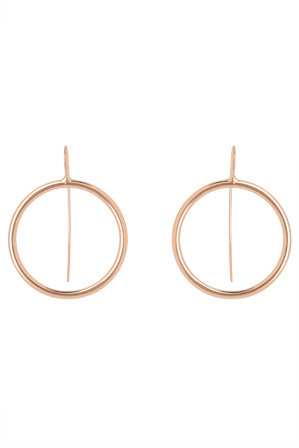 Basque - A67401BA Metal Mania Fine Circle Looped Earring