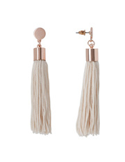 Basque - A69075BA Femme  Metal Disc And Tassel Pendant Earrings