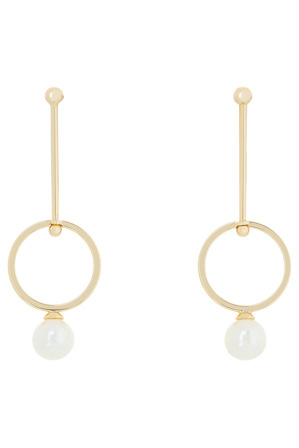 Wayne Cooper - WCGES18ER68 Long Stick Pearl Drop Earring