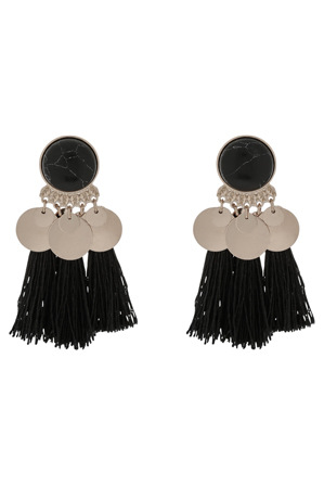 Piper - PIPJ0529 Coin Jumble Tassel Earrings