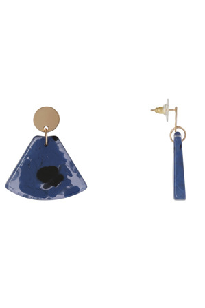 Basque - A69666BA Resin Triangle Drop Earring
