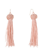 Basque - A69686BA/BLUSH Knot Just Another Tassel Earring